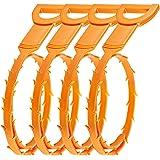 4 Pack Hair Drain Clog Remover SENHAI Drain Snake Equipment/Auger type Cleaning Tool