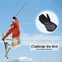 スキーグローブ、IFeng防水冬雪手袋防風スキースノーボード暖かい手袋男性用(ブラック)