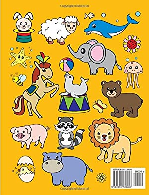 Coloring Books for Kids & Toddlers: Animals Coloring: Children Activity Books for Kids Ages 2-4 4-8 Boys Girls Fun Early Learning Relaxation for ... Workbooks Toddler Coloring Book (Volume 1)