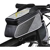 トップチューブバッグ 自転車 バッグ フレームバッグ 防水 大容量 敏感なタッチスクリーン レインカバー付き