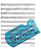 Song Writer's Composing Template for Music Notes & Symbols with Manuscript Staff Paper Tablet [並行輸入品]