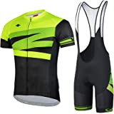 【サンティック】Santic メンズ サイクルジャージ 上下セット 半袖 サイクルウェア ロードバイク 自転車ウェア サイクリングウェア