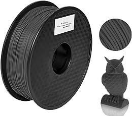 Pxmalion 炭素繊維/カーボンファイバー 3Dプリンター用フィラメント素材 マテリアルPLA樹脂材料 1.75mm径 正味量1KG(2.2LB) 精確度+/- 0.03mm ほとんどの3Dプリンターと3Dプリントペンが適用 黒/ブラック