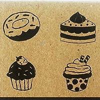 Rubber Stamp 4 Pcs Kids Bakery Sweet Cake Cupcake (CR021)