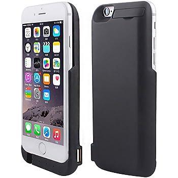 TTMOW iPhone6/6S 4.7 大容量7000mAh 超薄 モバイルバッテリー内蔵ケース 一体型バッテリーケース 急速充電 緊急充電 スタンド機能 2台同時充電 日本語取扱説明書付 (ブラック)