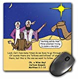 3drose Matthew 0201–12Wise Men Try to Follow Stars with Carl Sagan–マウスパッド、8by 8