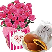 カーネーション5号鉢 文明堂どら焼き 花とスイーツ フラワーギフト 花鉢 母の日ギフト