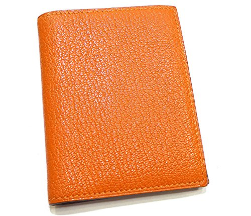 エルメス 手帳カバー ミニ アジェンダ □I刻印 オレンジ トゴ 手帳リフィル付