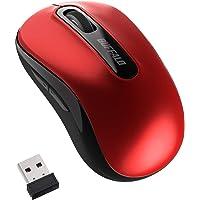 バッファロー マウス 無線 ワイヤレス 5ボタン 【戻る/進むボタン搭載】 小型 軽量 節電モデル 最大584日使用可能…