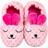 DADAWEN Toddler Boys Girls Soft Plush Slippers Cartoon Cute Animal Warm House Shoes