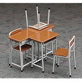 【好評発売中】1/12スケールアクセサリー 学校の机と椅子