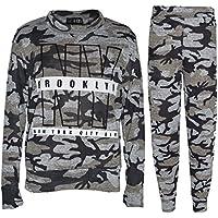 Kids Jogging Suit Girls NY Brooklyn Lounge Suit Tracksuit Hoodie Bottom 7-13 Yr