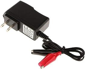 アキュムレータバッテリーチャージャー 電源アダプタ 6V 500mA クリップ型LEDライトバッテリーチャージャー