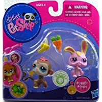 Littlest Pet Shop Pet Pairs Monkey & Bunny by Hasbro [並行輸入品]
