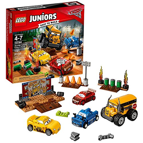 LEGO Juniors年2017 Carsシリーズセット# 10744 – Thunder Hollow Crazy 8 Race With Lightning Mcqueen, Cruz Ramirez、Broadside and Miss Fritter (ピース: 191 )