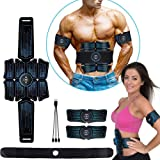 eAnjoy EMS Pads, ABS Stimulator Muscle Toner, Abdominal Toning Belt, Muscle Trainer for 8-Pack Abs Muscle Portable Fitness Tr