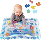 Tummy Time Baby Water Play Mat Inflatable Toy Mat for Infant & Toddlers Activity Center for 3 6 9 Months Newborn Boy Girl BPA