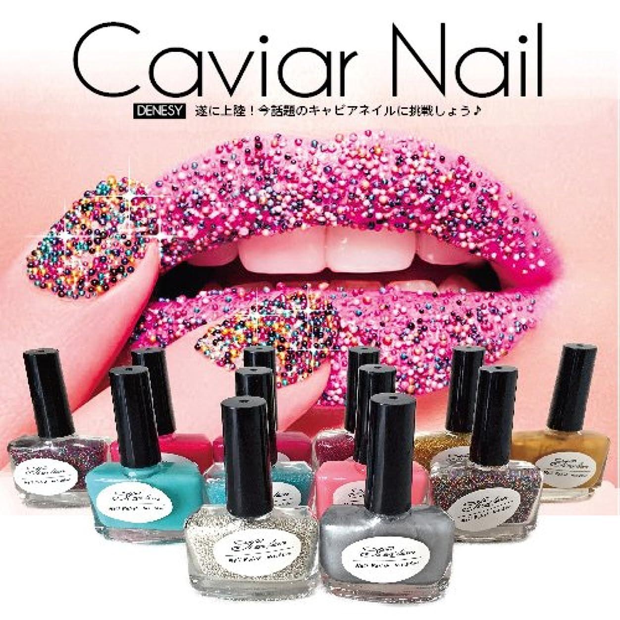 錆び退化する無駄キャビアネイル DENESY Caviar Nail (3点セット)NEWリニューアル 08:グリーン [マニキュア ネイルカラー ネイルポリッシュ SHANTI Caviar Manicure kit]