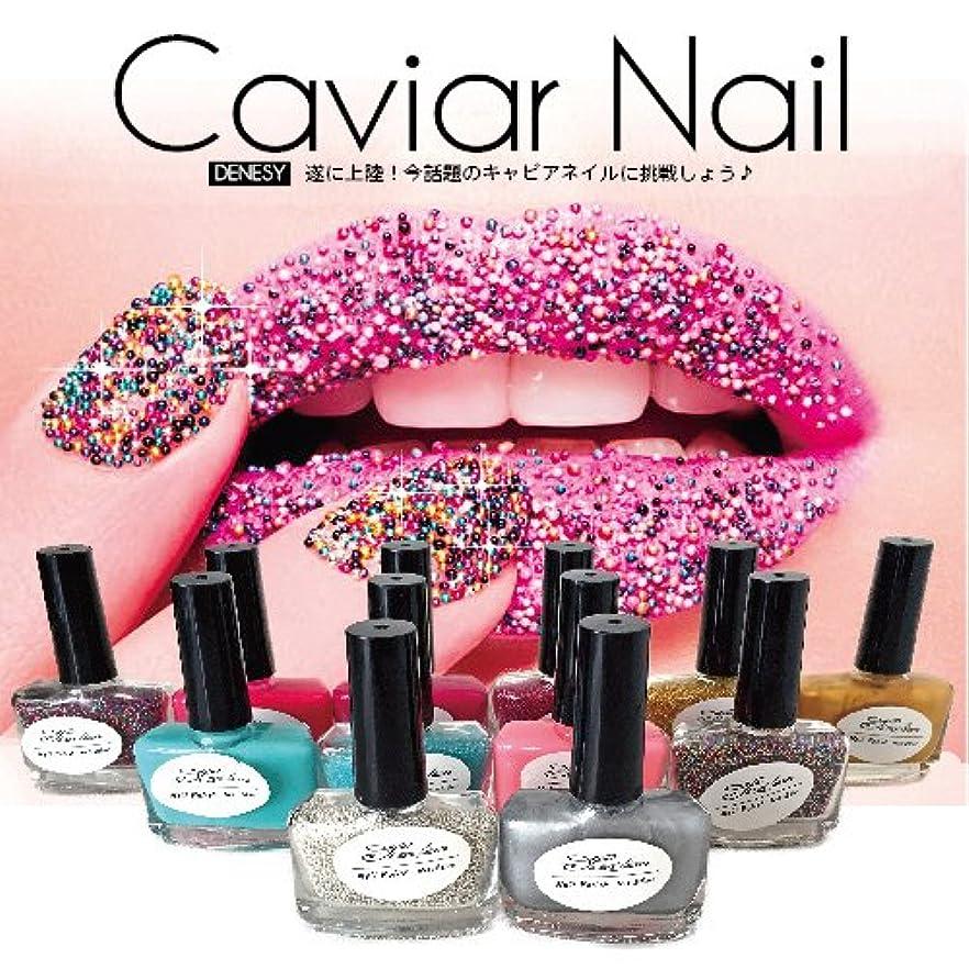 あたり隠すビジターキャビアネイル DENESY Caviar Nail (3点セット)NEWリニューアル 08:グリーン [マニキュア ネイルカラー ネイルポリッシュ SHANTI Caviar Manicure kit]