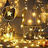 Best 3Mクリスマスデコレーション - Six-Bullotime イルミネーションライト 星型装飾LEDストリングライト カーテンライト 電池式 星型 室外 装飾 Review