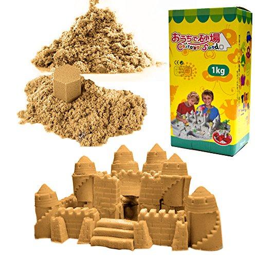 (チラカサンド) 追加用 砂 1kg 色つき で お片付け簡単 ふしぎな砂 カラー サンド 散らばらない 砂 (追加砂 サンドカラー 1kg)