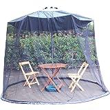 蚊帳 パラソル用 モスキートネット バグズシャット メッシュ素材 フリーサイズ アウトドア 蚊除け
