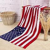 【Amateras】バスタイム まで おしゃれに!バスタオル 国旗 ユニオンジャック デザイン アメリカ イギリス 英国 星条旗 カナダ コットン タオル 140×70cm 国旗 【MT199】 (アメリカ)