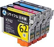 ジット 日本製 プリンター本體保証 エプソン(EPSON)対応 リサイクル インクカートリッジ IC4CL62 (目印:クリップ) 4色セット対応 JIT-NE624P