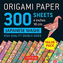 Origami Paper - Japanese Washi Patterns- 4 inch (10cm) 300 sheets: Tuttle Origami Paper: High-Quality Origami Sheets Printed with 12 Different Designs