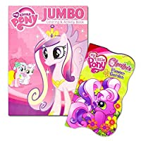 My Little Pony Book Set Toddlers Kids -- 2 Books (1 Deluxe Board Book, 1 Jumbo Colouring Book -- Featuring Twilight Sparkle, Rainbow Dash, Pinkie Pie and More )