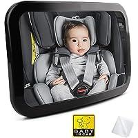 Fincy Palmoo 車用 ベビーミラー インサイトミラー 曲面鏡 大判(サイズ:300×190mm)後部座席ベビー…