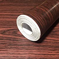 RUDOSTYLE 壁紙 木目 クロス はがせる 防水 壁紙シール 超簡単リフォーム 45cm×10m 【正規品】 (木目調 アンティークブラウン)