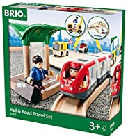 BRIO Rail & Road Travel Set [並行輸入品]
