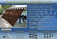 RVオーニング窓シェードオーニング窓画面Motorhomeキット10x 16(ブラウン)
