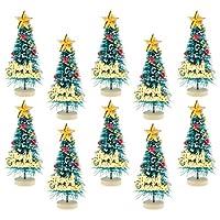 Toygogo 6個1/12ドールハウスミニチュアクリスマスツリー「メリークリスマス」レターボード