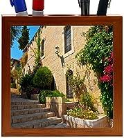 Rikki Knight Stone Steps in Jerusalem Design 5-Inch Wooden Tile Pen Holder (RK-PH8940) [並行輸入品]
