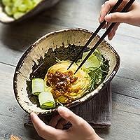 家庭用食器和風セラミッククリエイティブサラダボウル野菜ボウルデザートボウルフルーツプレート(サイズ:直径24CM *高9CM)
