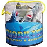 Warm Fuzzy Toys Sharks Tub