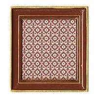 "Cavallini Papers & Co. Florentine Frame Ravenna, 3"" x 3"", Red [並行輸入品]"