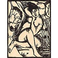 Franz Marc German Sleeping Shepherdess Schlafende Hirtin Artwork Art Print Poster Wall Decor 12X16 Inch ドイツ人ポスター壁デコ