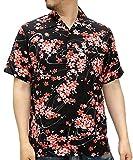 (ルーシャット) ROUSHATTE アロハシャツ 半袖 シャツ レーヨン ハイビスカス 12color M 柄D