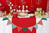 クリスマス パーティ 飾り付け ガーランド イベント グッズ (クリスマスカラー 三角フラッグ)