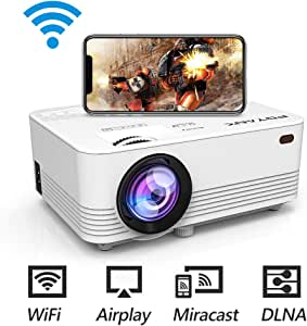 POYANK データプロジェクター 3600lm WiFi接続可 スマホと直接に繋がり 交換ケーブル不要【3年保証】1080PフルHD対応 スピーカーが二つ内蔵 パソコン/スマホ/タブレット/PS3/PS4/DVDプレイヤーなど接続可 標準的なカメラ三脚に対応可