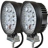 CooAgo LEDワークライト 作業灯 27W 12V-24V対応 トラック用品 車外灯 2個セット