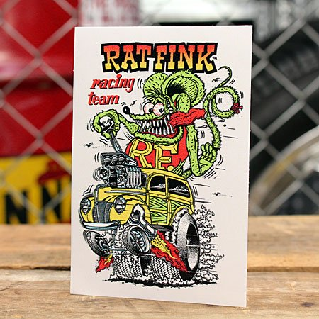 ラットフィンク ステッカー RatFink USA Racing Team_SC-RDUSA006-MON
