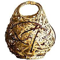 山下工芸 花器 ナチュラル φ17×H22cm 白竹 まりも ミニ 712545