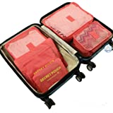 6Pcs Travel Storage Bags Clothes Packing Cubes Luggage Organizer Pouch