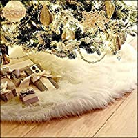 Lowis Lily 78cm Year Christmas Plush Long Haired Tree Skirt Decor Decorations - Decorations Home