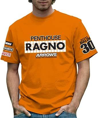 RETRO GP アロウズ メンズTシャツ Arrows A4 Ragno Mens T-shirt