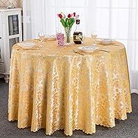 ZWL テーブルクロスヨーロピアンスタイルテーブルクロステーブルクロスラウンドテーブルクロス円形花レストランホテル 、キッチンに活力を与える ( 色 : E , サイズ さいず : D300cm )